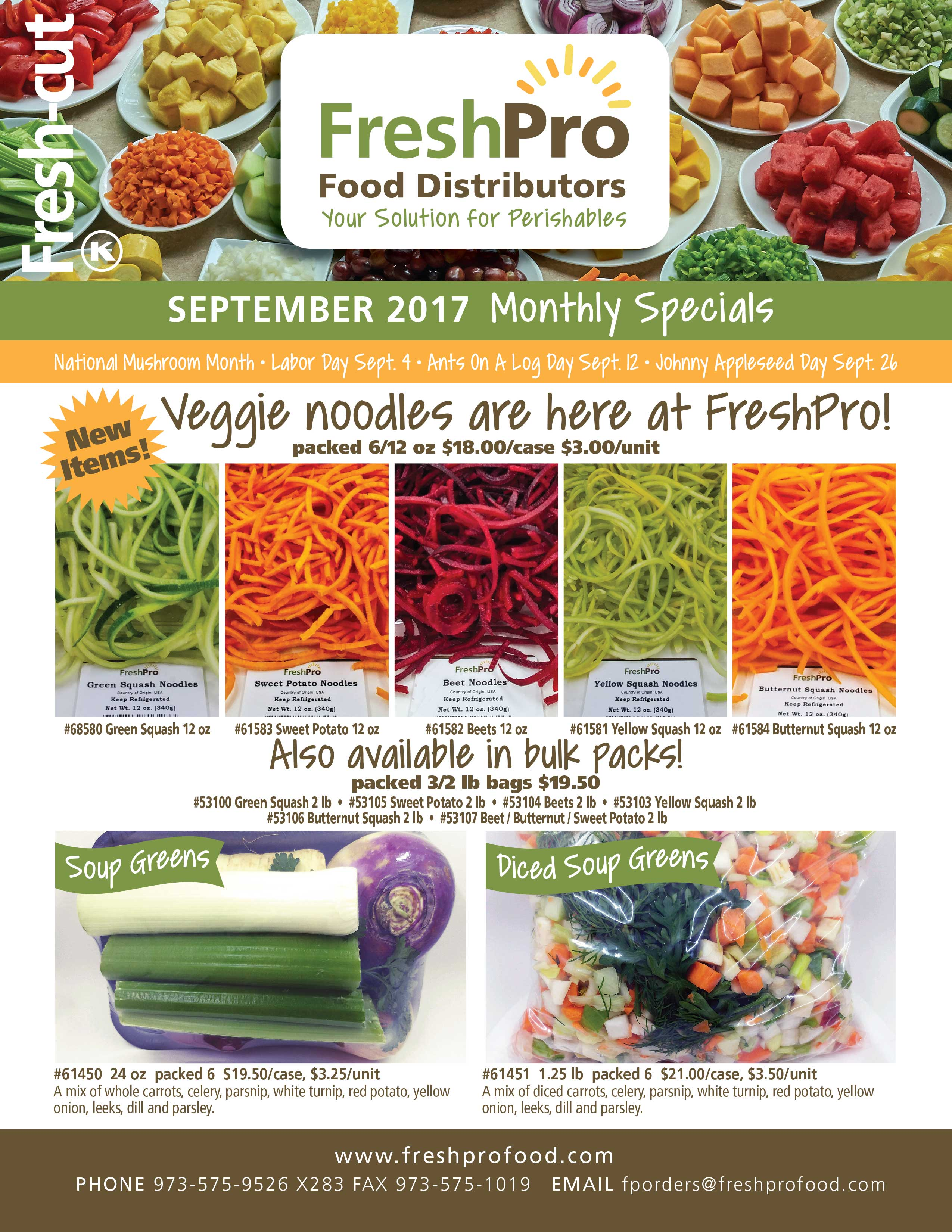 FreshPro Monthly Fresh Cut Specials September 2017