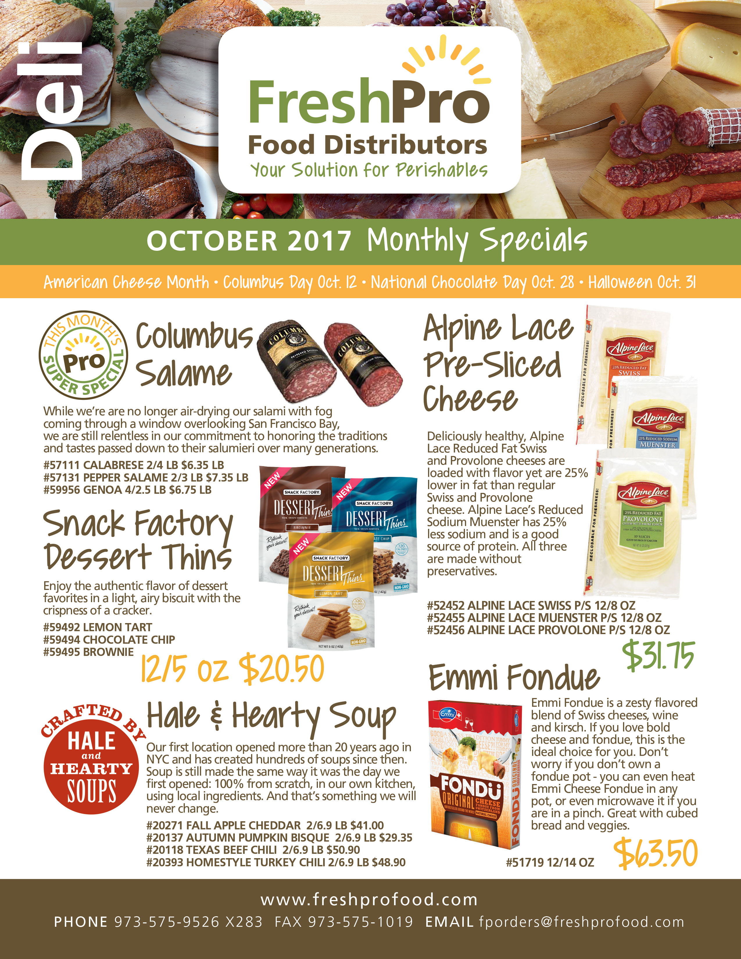 FreshPro Monthly Specials August 2017