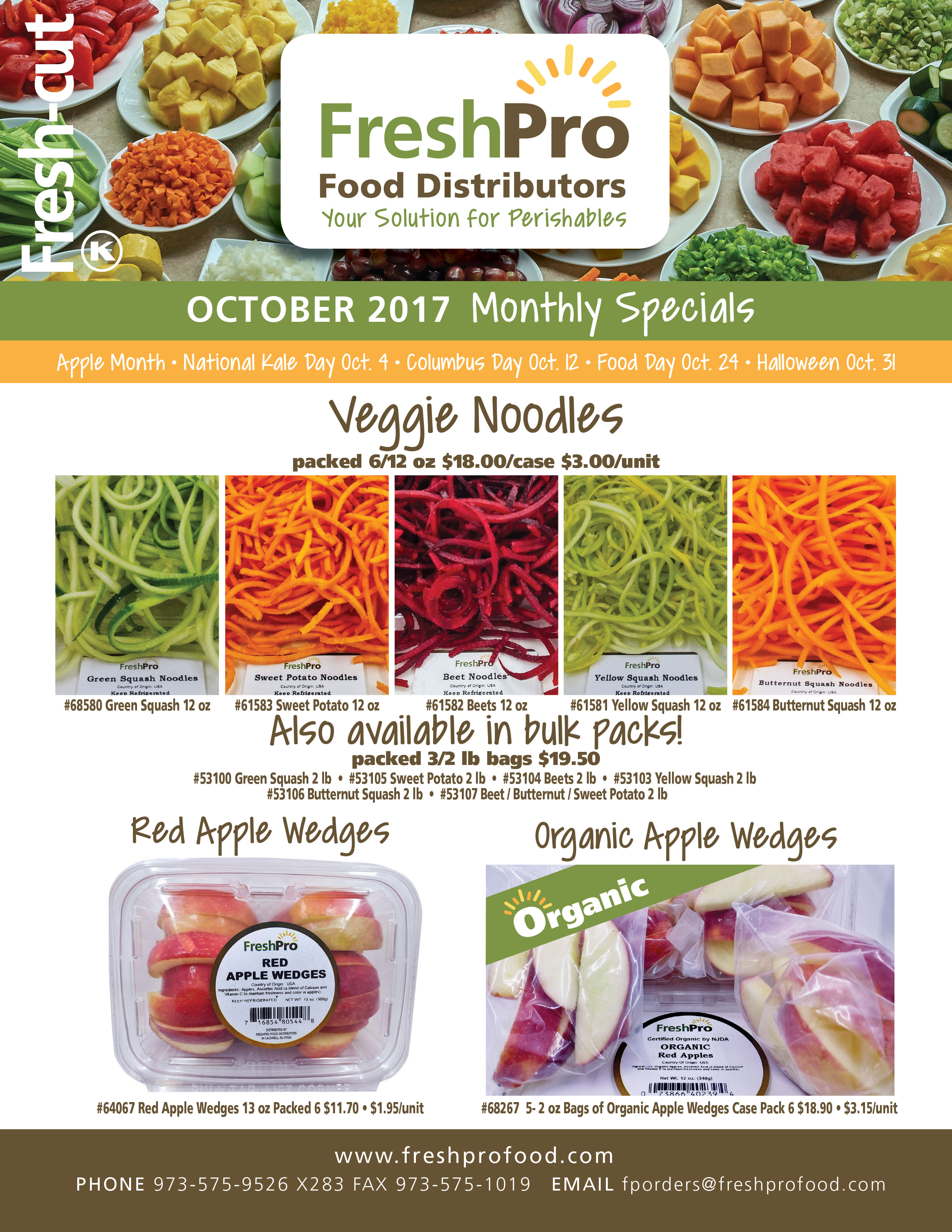 FreshPro Monthly Fresh Cut Specials October 2017