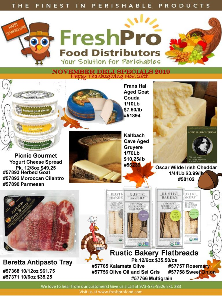 FreshPro Monthly Deli Specials November 2019